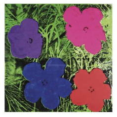 ウォーホル *Flowers (1 purple, 1 blue, 1 pink, 1 red)